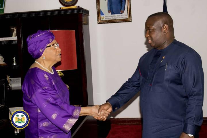 President Bio, Ellen Johnson Sirleaf discuss Fragility Report