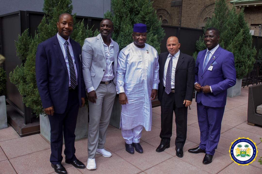 Akon Praises President Bio's Dynamic Leadership, Promises 5,000 Solar Street Lights and 2,500 Traffic Lights to Sierra Leone