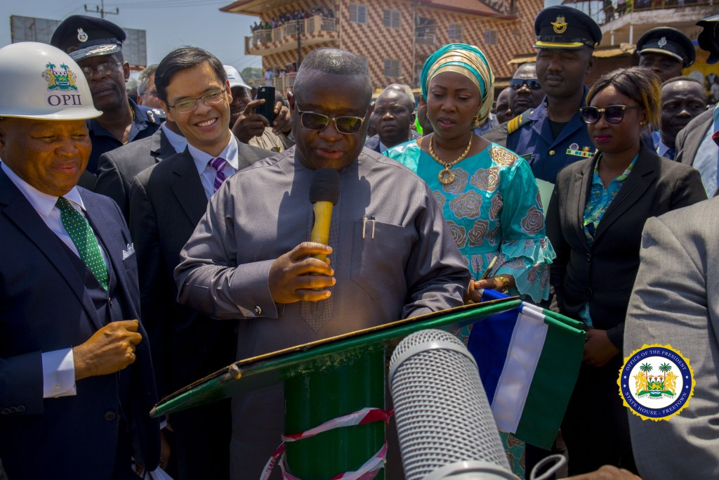 President Julius Maada Bio Commissions Newly Constructed Sengbe Pieh Memorial Bridge in Freetown