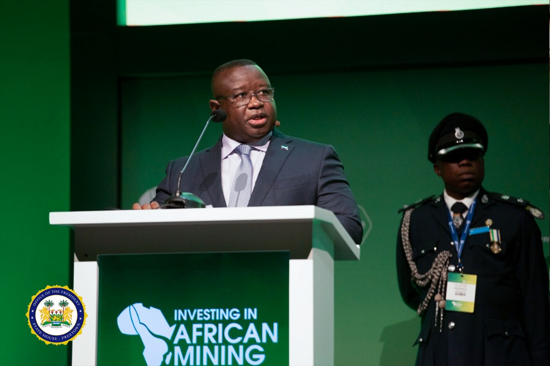 President Julius Maada Bio Addresses World's Largest Mining Investment Event, Calls for Trustworthy and Patient Investors to Sierra Leone